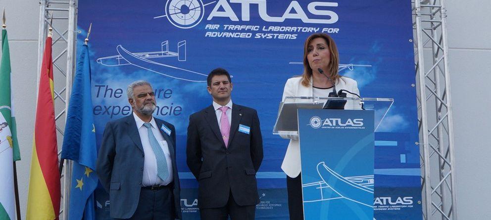 Foto: Susana Díaz, en la inauguración del centro ATLAS.