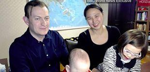 Post de Habla el protagonista interrumpido por sus hijos en directo en la BBC