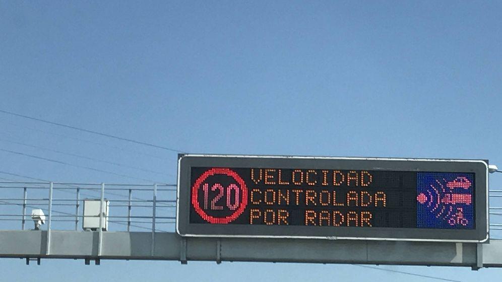 Foto: Radar fijo en la carretera N-1