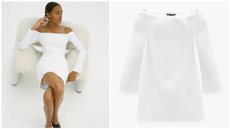 Vestido de Zara para novias atrevidas. (Cortesía)