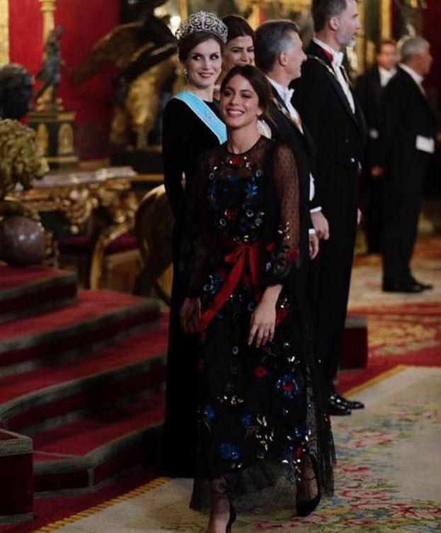 Foto: Tini Stoessel tras saludar a la Reina y Awada (Instagram)