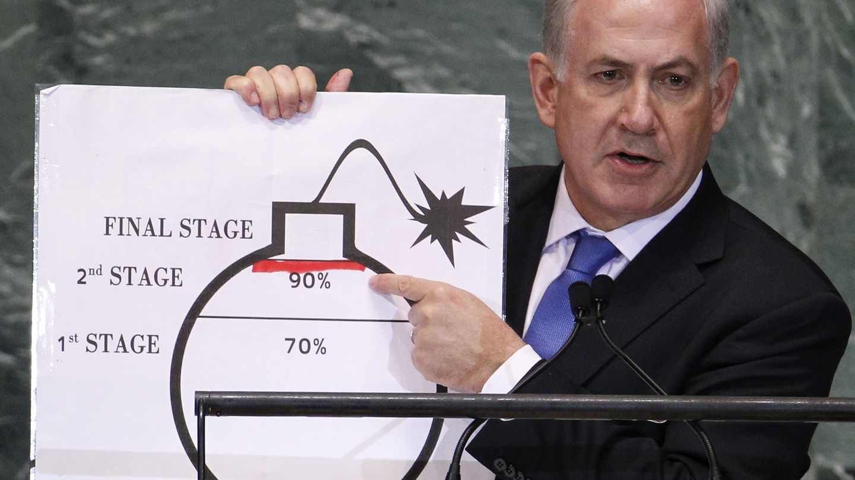 Netanyahu, en la Asamblea General de la ONU en septiembre de 2012 (Reuters)