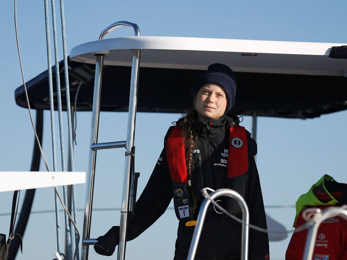 Foto: Greta Thunberg, a su llegada a Lisboa para participar en la cumbre climática. (Reuters)