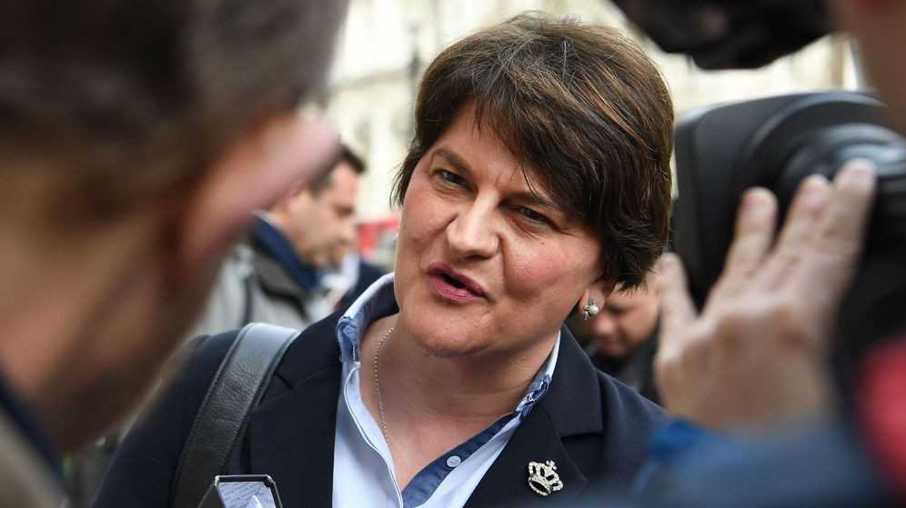 Foto: La ministra principal norirlandesa, Arlene Foster. (EFE)