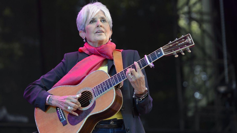 Joan Báez, en 2015. (EFE)