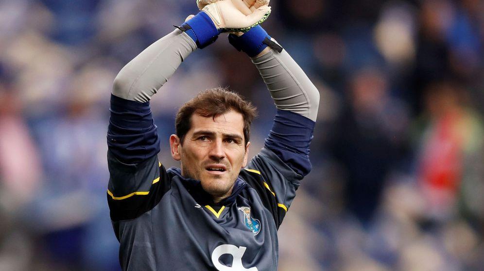 Foto: Iker Casillas, durante un entrenamiento del Oporto. (Reuters)