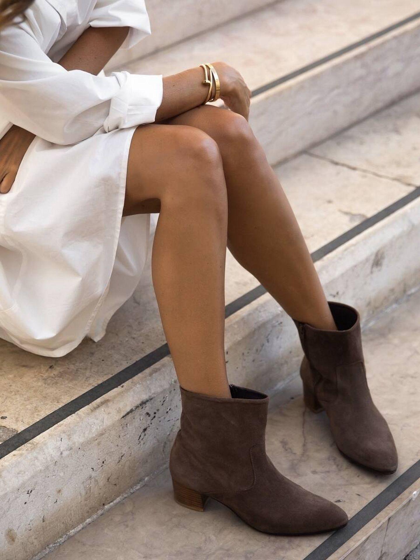 Los botines de It Shoes que lleva Paula Echevarría. (Cortesía)