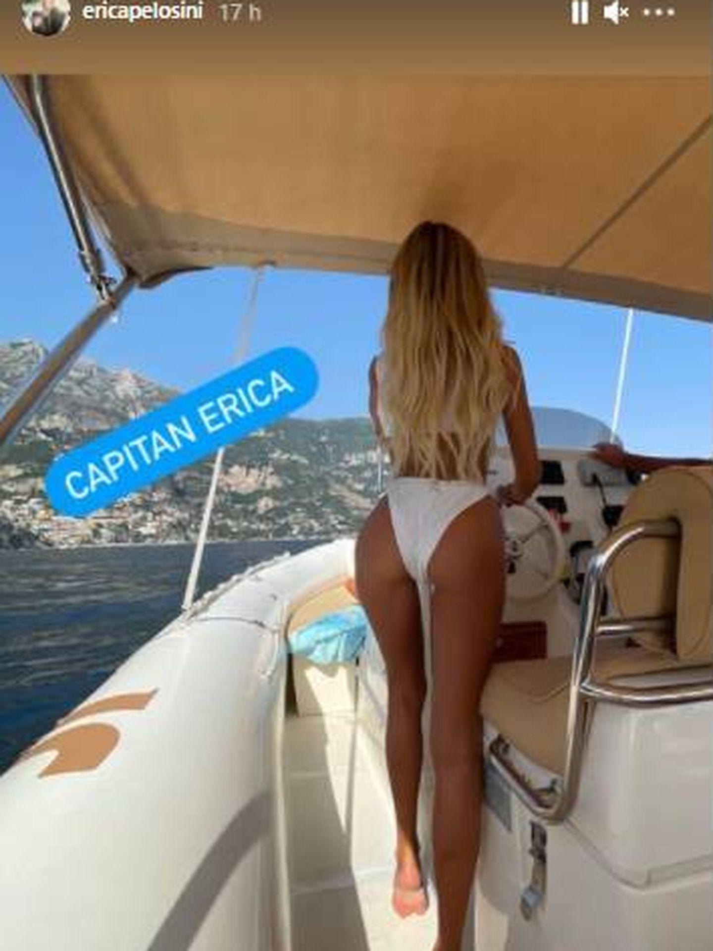 Erica Pelosini en Capri este fin de semana. (IG)