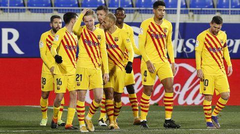 El Barça se desinfla en la segunda parte y gana por la mínima en Huesca (0-1)
