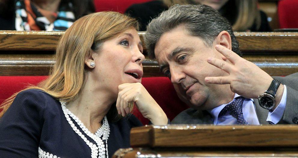 La presidenta del PPC, Alicia Sánchez-camacho, y el portavoz del partido, Enric Millo. (EFE)