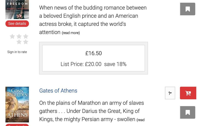 Lista de ventas de 'Sunday Times'. (Captura)