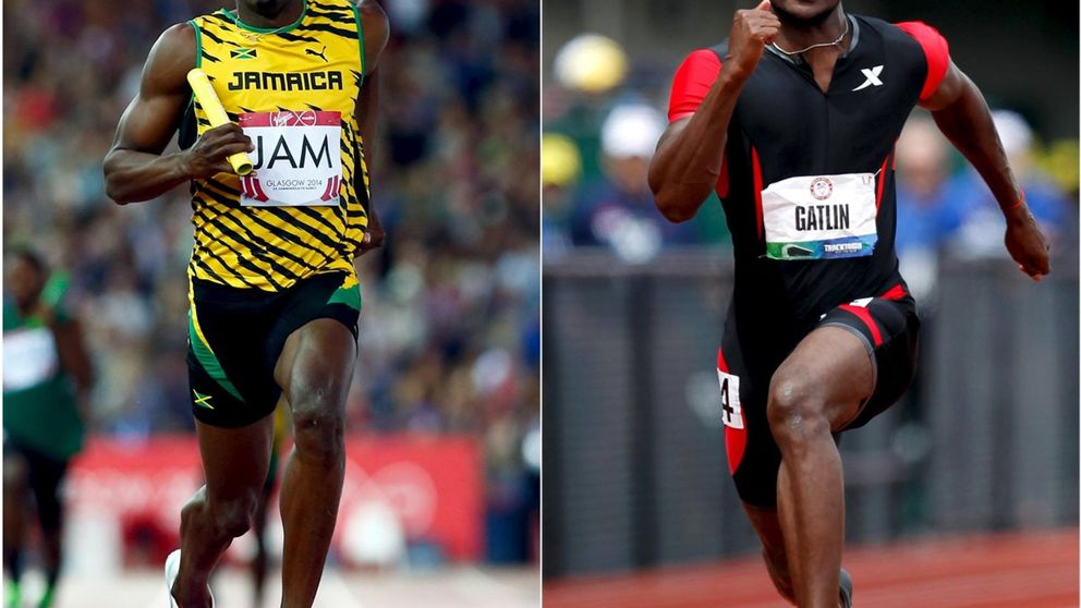 Gatlin firma una espectacular marca de 9.83 en los 100 metros e intimida a Bolt