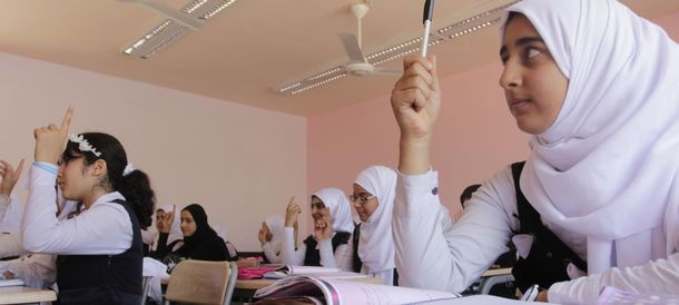 Foto: El Atlas fue diseñado para estudiantes de Oriente Medio. En la foto, una escuela de Bagdad (Reuters)