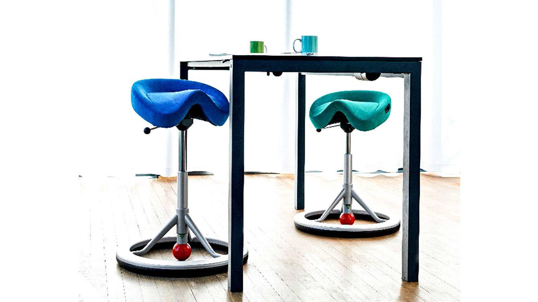 Foto: Taburets de Lanab Officeline expuestos en la Feria de Estocolmo.