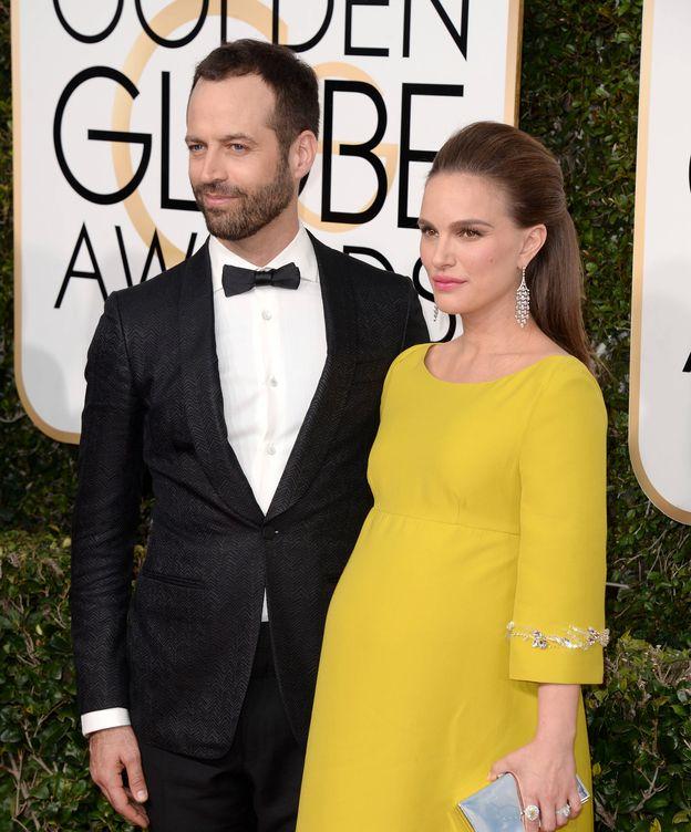 Foto: Natalie Portman y su marido Benjamin Millepied en los Globos de Oro (GTRES)