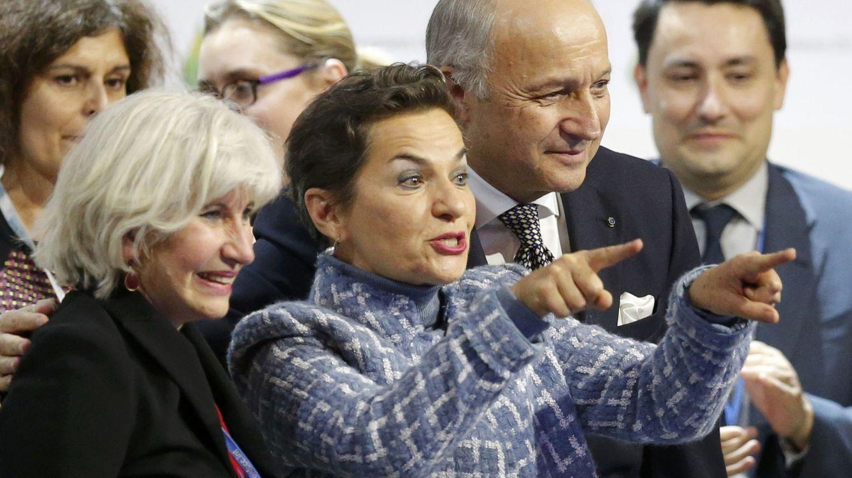 Foto: Laurence Tubiana, jefa de negociaciones francesa, Christiana Figueres, representante de la ONU, y Laurent Fabious, ministro de Exteriores francés (Foto: Reuters)