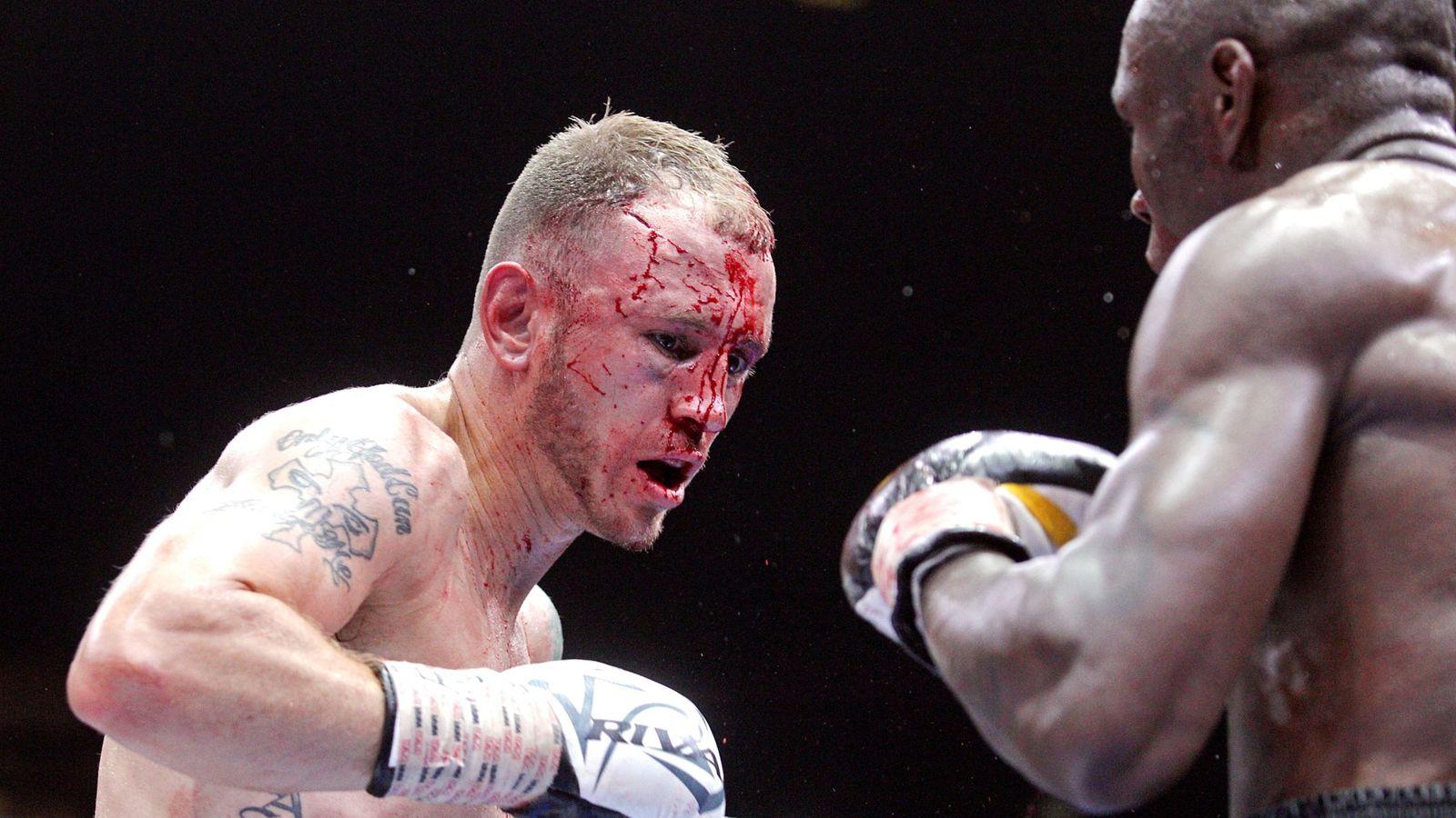 Foto: Sammy Vásquez, en su combate frente a Wale Omotoso (AP)