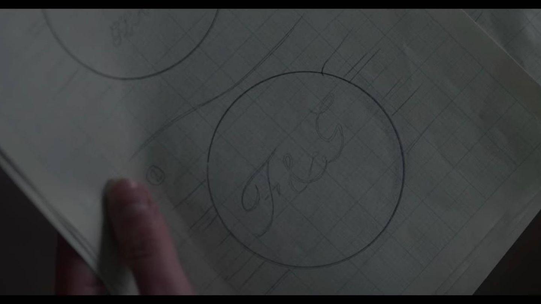 Los bocetos encontrado por el personaje de Diana Spencer. (Netflix)