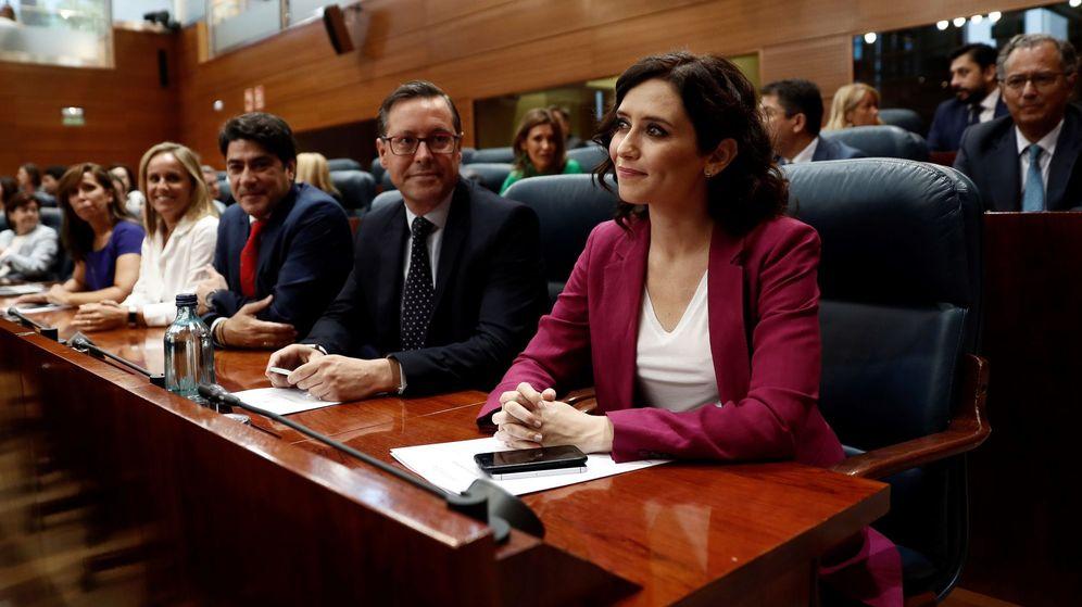 Foto: La popular Isabel Díaz Ayuso, en la Asamblea de Madrid. (EFE)