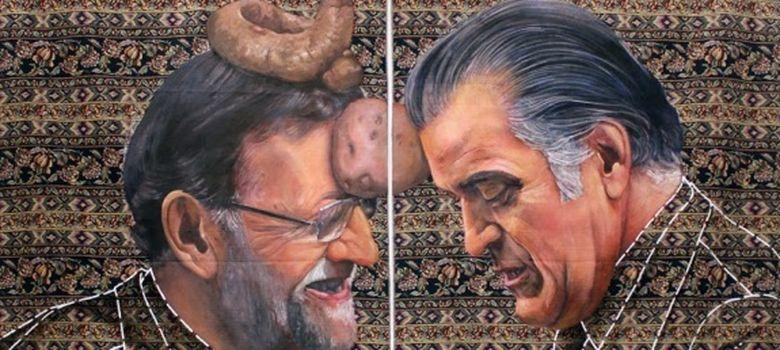 Foto: Obra de Ausín Sainz que muestra a Rajoy y a Bárcenas (Ausín Sainz)