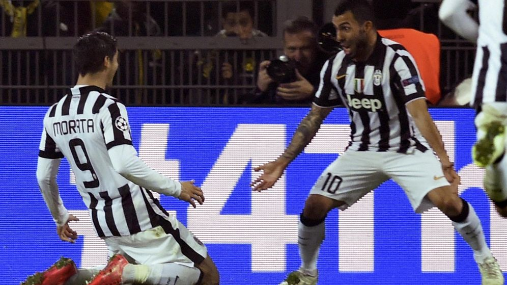 Foto: Morata celebra su gol ante el Borussia (Reuters).