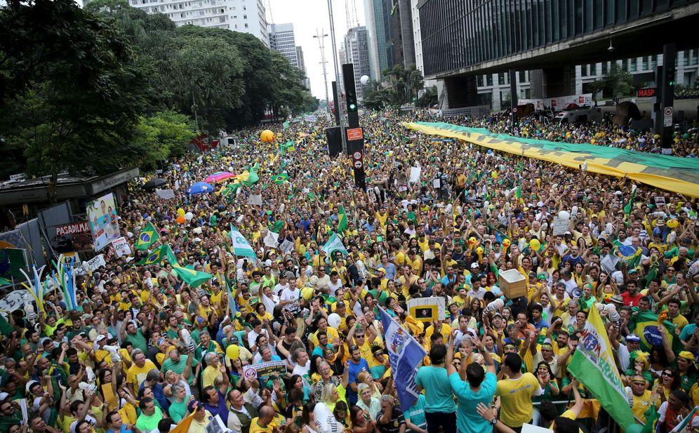 Foto: Imagen de la protesta contra la presidenta Dilma Rousseff en Sao Paulo, el 13 de marzo de 2016. (Reuters)