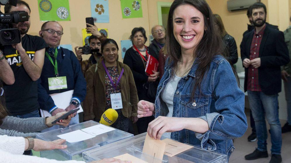 Foto: Irene Montero votando en 2019. (Getty)