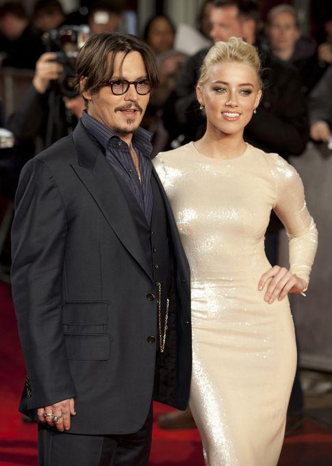 Foto: El actor y su prometida en el estreno de 'Los diarios del ron' (I. C)