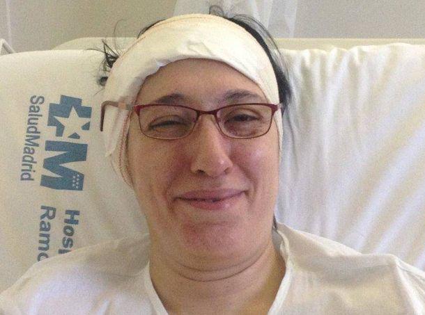 Foto: Soraya López, en una de las ocasiones en las que ha estado ingresada.