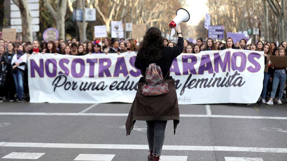 Foto: Manifestación con motivo del día internacional de la mujer en Madrid. (EFE)