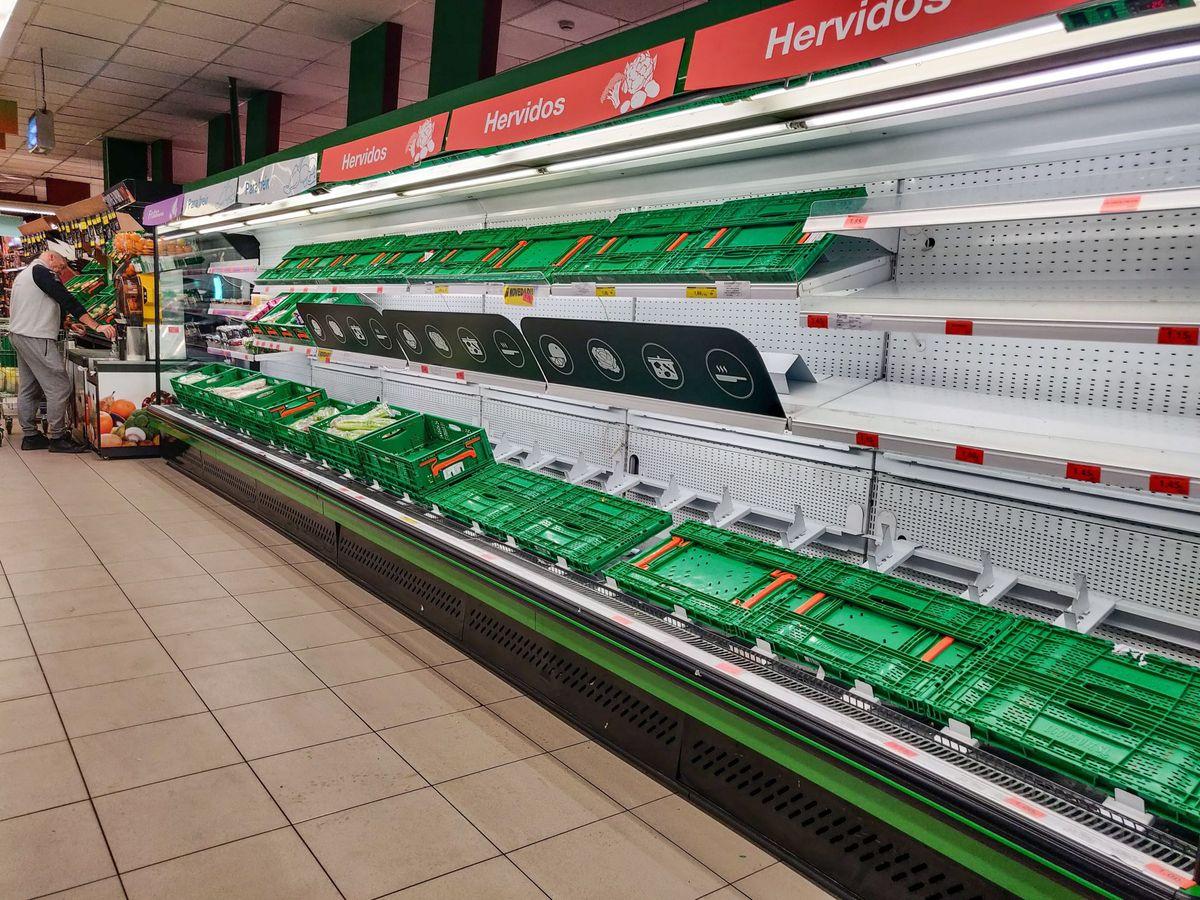Foto: Supermercados vacíos en madrid por el coronavirus