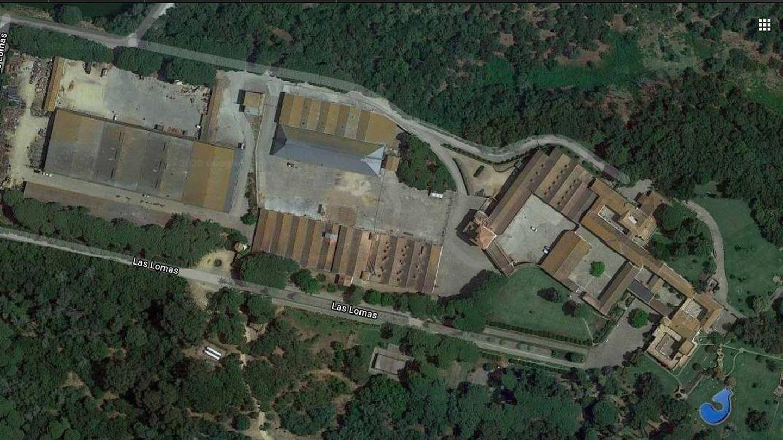 Vista aérea de la finca Las Lomas. (Google Maps)