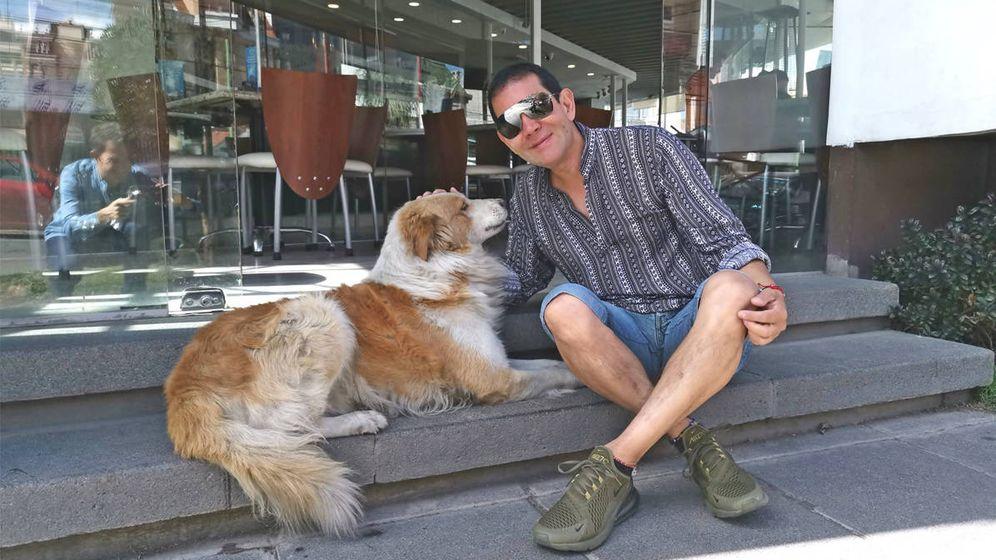 Foto: Fernando y Choco, el perro que le cambió la vida en un instante (Foto: Facebook)