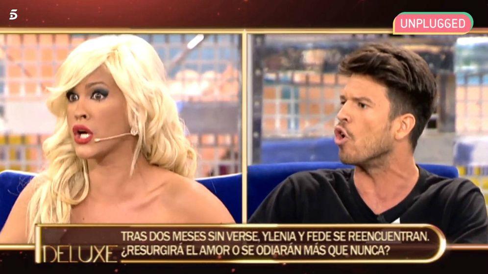Foto: Ylenia y Fede en 'Sálvame deluxe'. (Mediaset España)