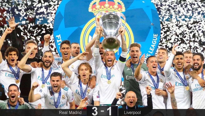 Foto: Sergio Ramos levantó el trofeo de la Champions por tercer año consecutivo. (Reuters)