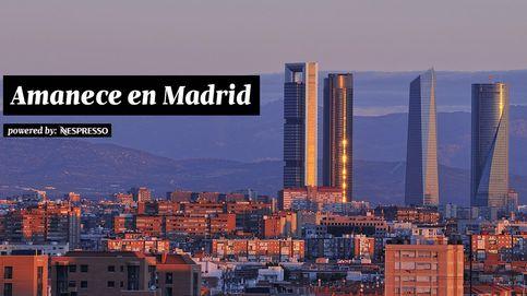 Empieza el día en el corazón de Madrid, ante las cuatro torres de Castellana
