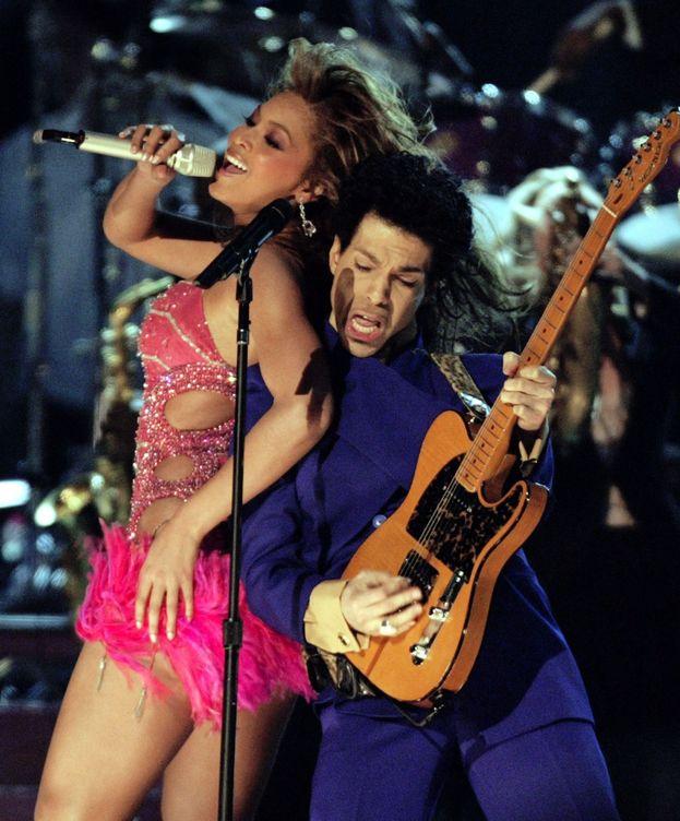 Foto: Prince y Beyoncé, en 2004.
