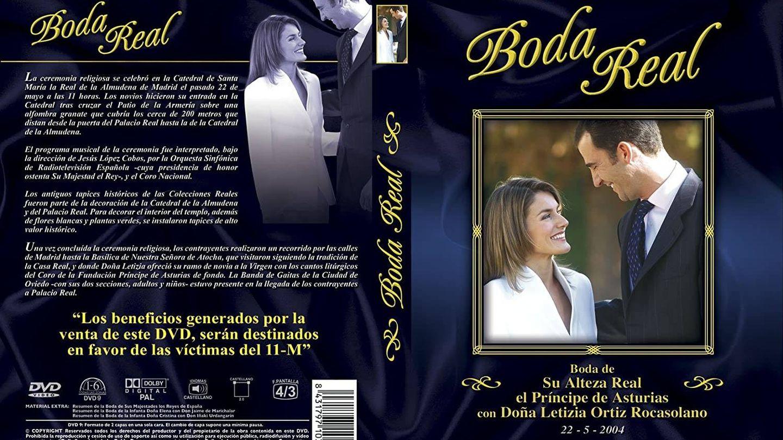 Carátula completa de la boda real en DVD. (TVE)