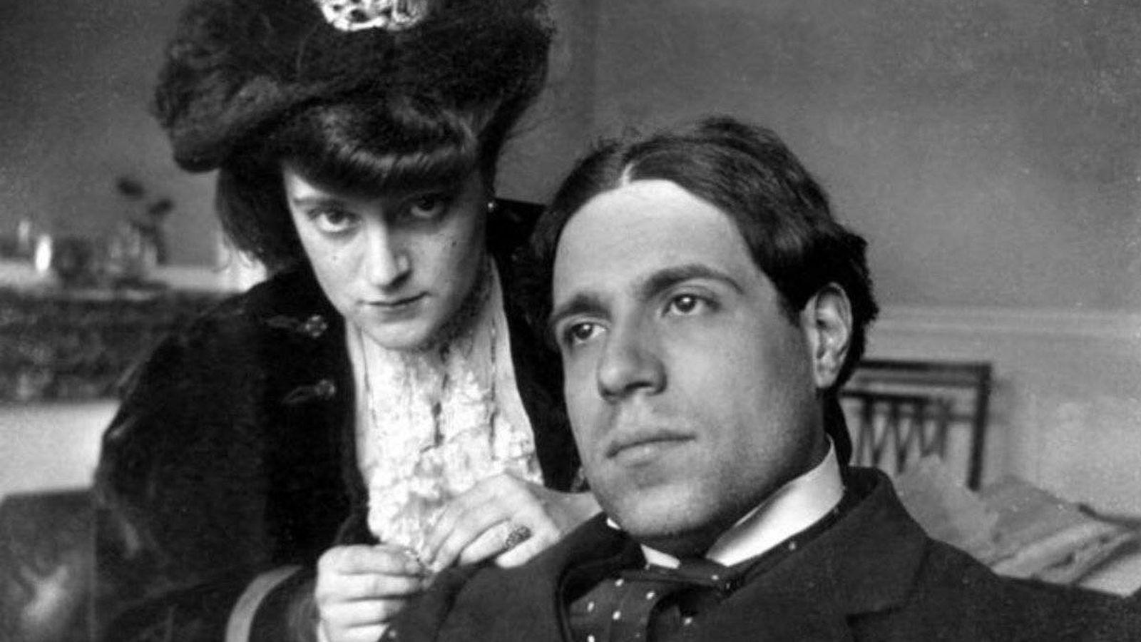 Foto: Eugenio d'Ors y María Pérez Peix