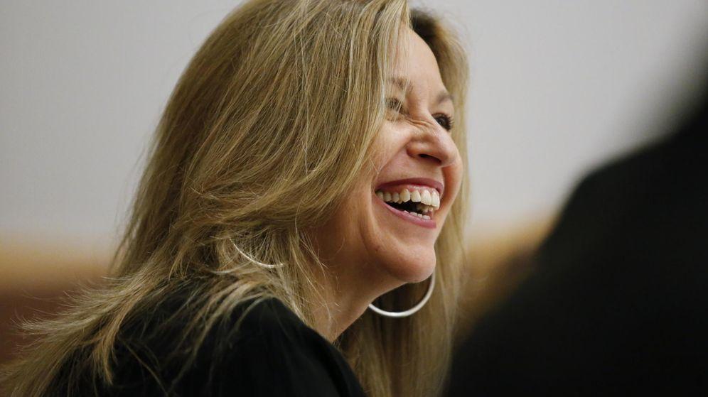 Foto: Trinidad Jiménez, en un encuentro con periodistas en la sede de España en la ONU, en Nueva York, el pasado 27 de mayo. (EFE)