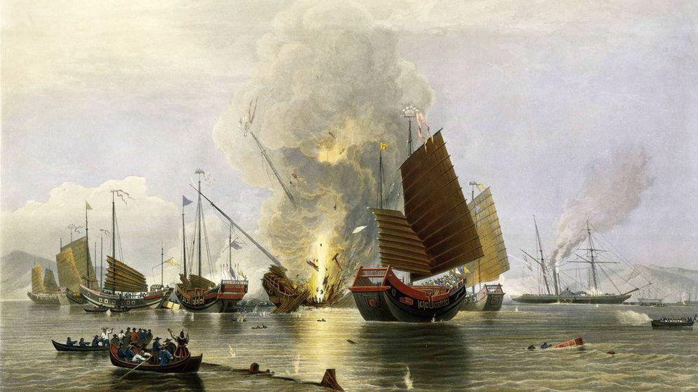 Foto: Edward Duncan - 'El buque británico Némesis destruyendo juncos chinos' (841)