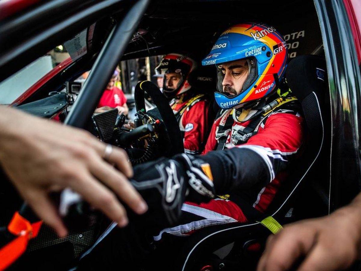 Foto: Fernando Alonso, este martes en Arabia Saudí. (@alo_oficial)