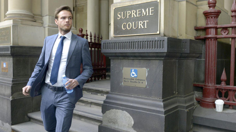 Foto: Giedo Van der Garde en la Corte Suprema de Melbourne este lunes (EFE)