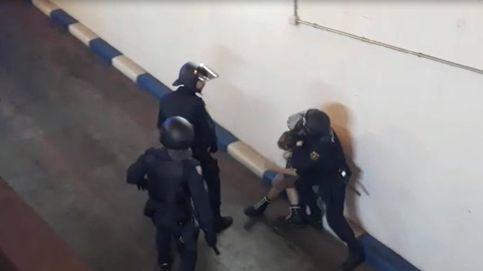 Dos policías heridos en la manifestación en Valencia contra la sentencia