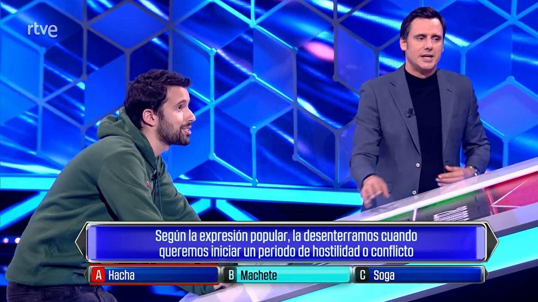 Álvaro e Ion Aramendi, en 'El cazador'. (TVE)