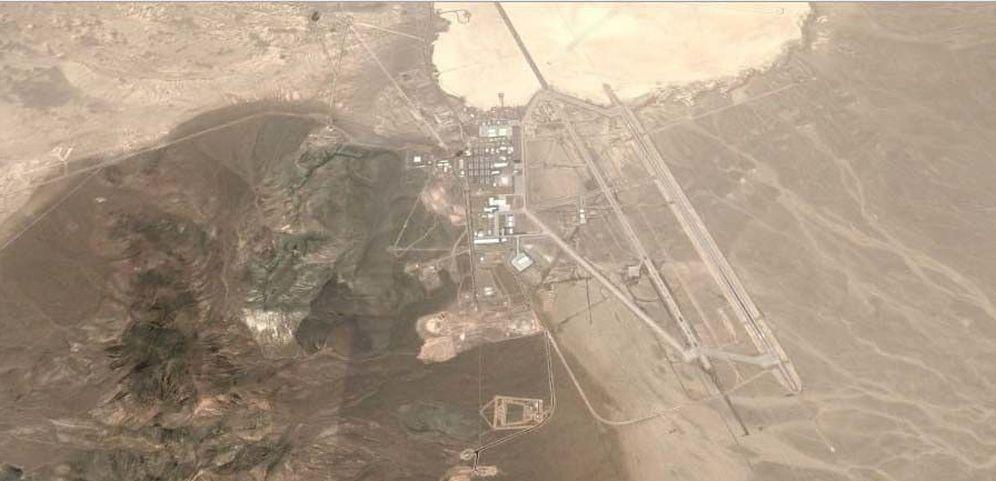 Foto: El Área 51, vista desde Google Earth. (Google)