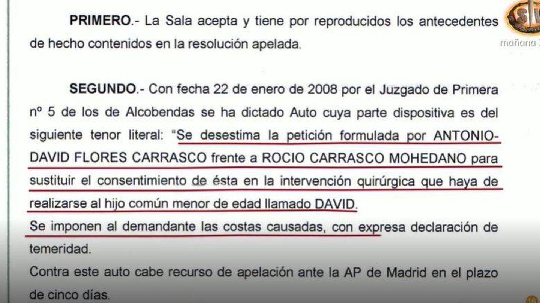Documento de la sentencia. (Mediaset)