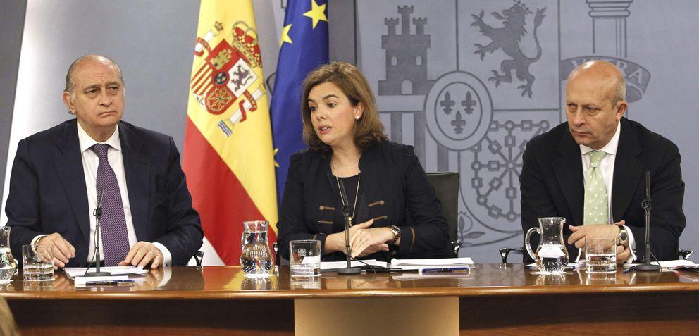 Foto: Jorge Fernández Díaz, Soraya Sáenz de Santamaría y José Ignacio Wert