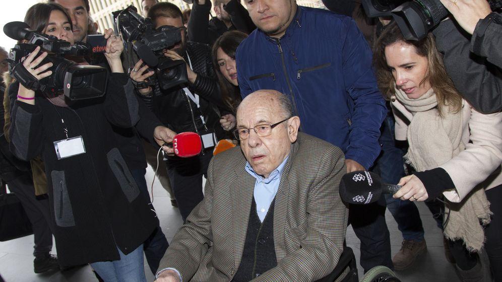 Foto: El expresidente del Palau de la Música Fèlix Millet, a su llegada a la Ciutat de la Justicia. (EFE)