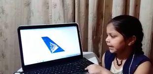 Post de Récord: una niña adivina 93 aerolíneas en un minuto por la cola del avión
